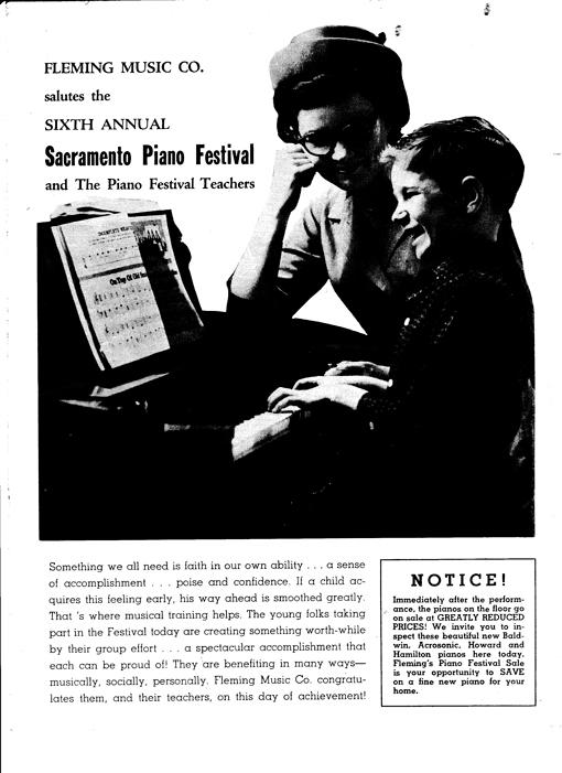 Sacramento Piano Festival - Back page