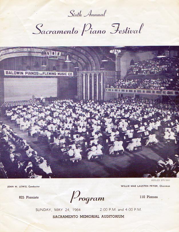 Sacramento Piano Festival - Front page